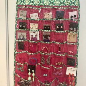 Jewelry - 30 pairs of earrings, 10 bracelets & organizer!!
